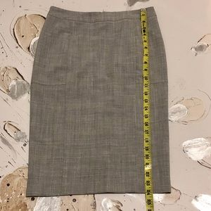 NWOT Body By Victoria Gray Long Pencil Skirt